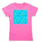 Pacific Reef Fish Scatter Girl's Tee
