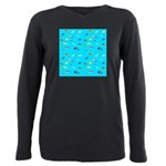 Pacific Reef Fish Scatter Plus Size Long Sleeve Te