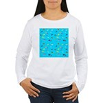 Pacific Reef Fish Scatter Long Sleeve T-Shirt