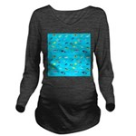 Pacific Reef Fish Scatter Long Sleeve Maternity T-