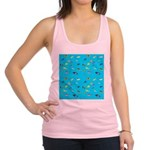 Pacific Reef Fish Scatter Racerback Tank Top