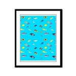 Pacific Reef Fish Scatter Framed Panel Print