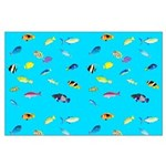 Pacific Reef Fish Scatter Posters