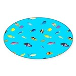 Pacific Reef Fish Scatter Sticker
