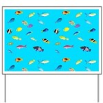 Pacific Reef Fish Scatter Yard Sign