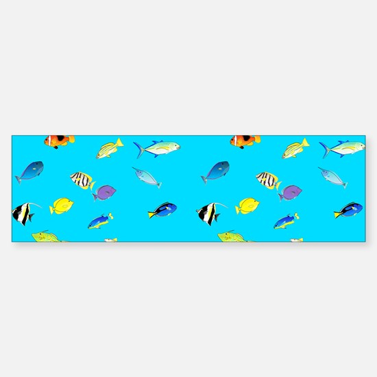 Pacific Reef Fish Scatter Bumper Bumper Bumper Sticker