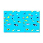 Pacific Reef Fish Scatter Wall Decal