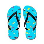 Pacific Reef Fish Scatter Flip Flops