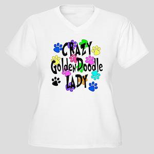 Crazy Goldenddood Women's Plus Size V-Neck T-Shirt