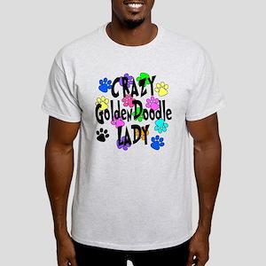 Crazy Goldenddoodle Lady Light T-Shirt