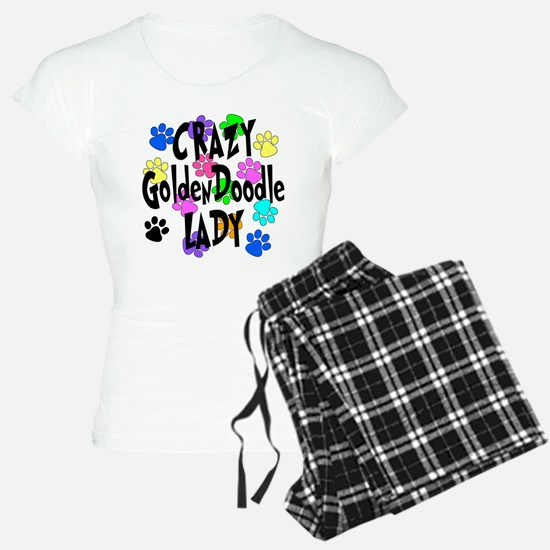 Crazy Goldenddoodle Lady Pajamas