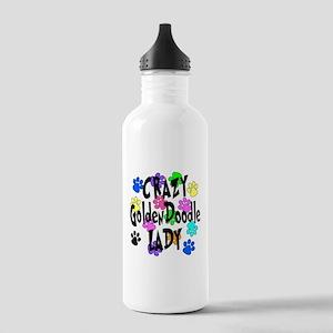 Crazy Goldenddoodle La Stainless Water Bottle 1.0L