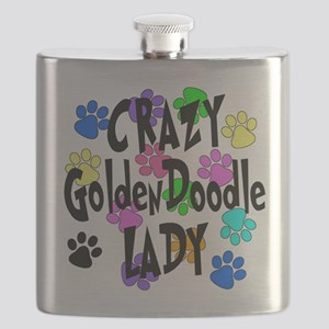 Crazy Goldenddoodle Lady Flask