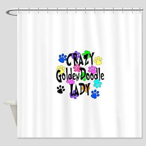 Crazy Goldenddoodle Lady Shower Curtain
