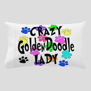 Crazy Goldenddoodle Lady Pillow Case