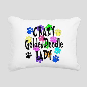 Crazy Goldenddoodle Lady Rectangular Canvas Pillow