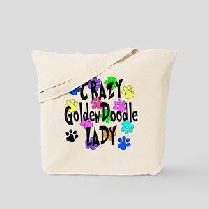 Crazy Goldenddoodle Lady Tote Bag