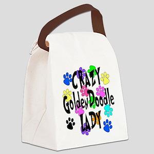 Crazy Goldenddoodle Lady Canvas Lunch Bag