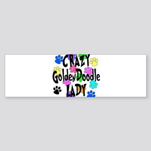 Crazy Goldenddoodle Lady Sticker (Bumper)