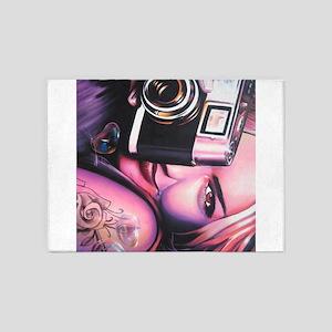 Photographer Girl 5'x7'Area Rug