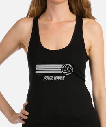 Volleyball Personalized Racerback Tank Top