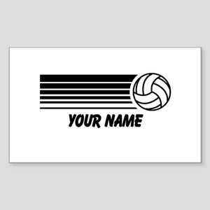 Volleyball Personalized Sticker (Rectangle)