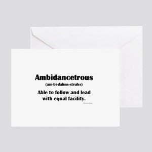 Ambidancetrous Greeting Cards