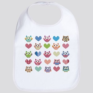 Owls & Hearts Bib