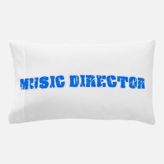 Music Director Blue Bold Design Pillow Case