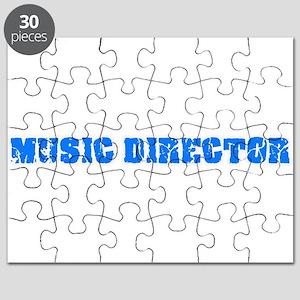Music Director Blue Bold Design Puzzle