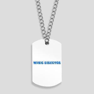 Music Director Blue Bold Design Dog Tags