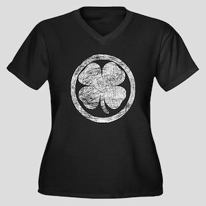 Vintage Shamrock Symbol Plus Size T-Shirt