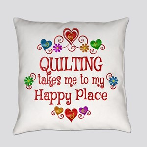 Quilting Happy Place Everyday Pillow
