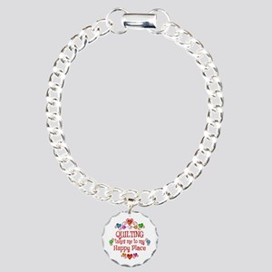 Quilting Happy Place Charm Bracelet, One Charm