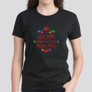 Quilting Happy Place Women's Dark T-Shirt