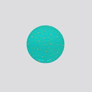 blue and gold buddha Mini Button