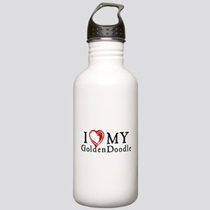 I Heart My Goldenddood Stainless Water Bottle 1.0L