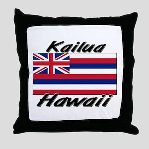 Kailua Hawaii Throw Pillow