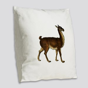 LLAMA POISE Burlap Throw Pillow