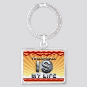 Volleyball is My Life Landscape Keychain