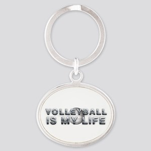 Volleyball Is My Life Oval Keychain Keychains