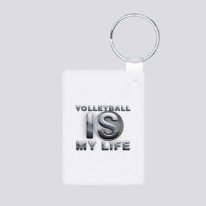 Volleyball is My Life Aluminum Photo Keychain