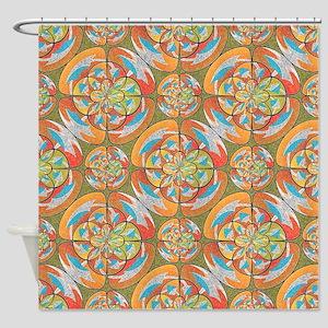 autumn colors shower curtain - Colorful Shower Curtains
