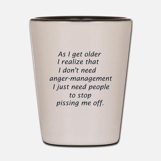 Unique Anger management Shot Glass