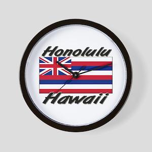 Honolulu Hawaii Wall Clock