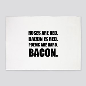 Bacon Poem 2 5'x7'Area Rug