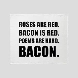 Bacon Poem 2 Throw Blanket