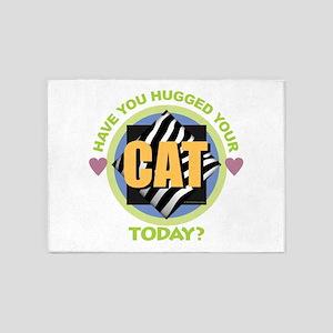 Hug Your Cat 5'x7'Area Rug