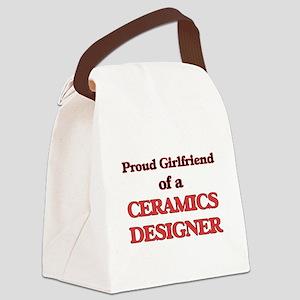Proud Girlfriend of a Ceramics De Canvas Lunch Bag