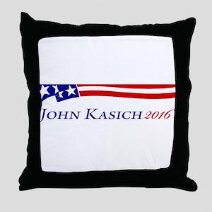 John Kasich Throw Pillow